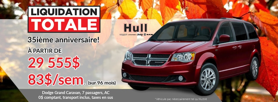 LIQUIDATION TOTALE Dodge Grand Caravan 35ième