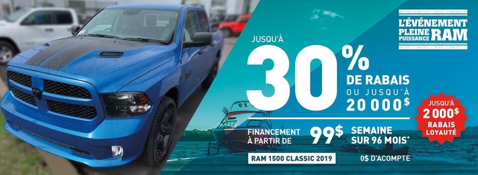 Special Ram 1500 Classic 2019 à Gatineau Ottawa