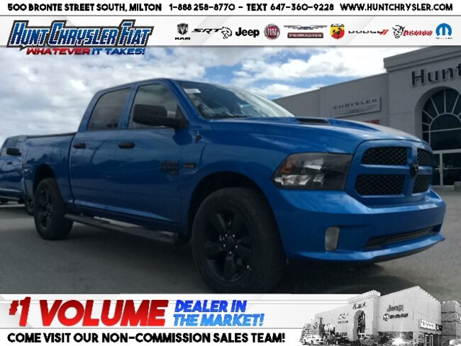 New 2019 Ram 1500 Classic EXPRESS HYDRO BLUE | LED | STEPS | TONNEAU & MORE! Truck Crew Cab in Milton, ON