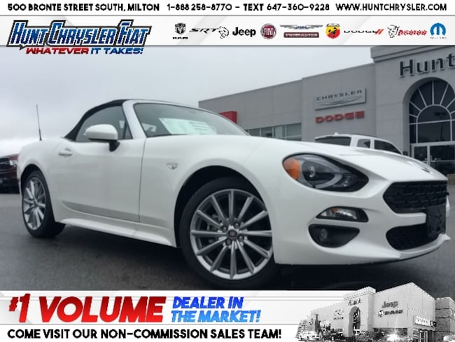 New 2019 FIAT 124 Spider LUSSO | PEARL WHITE | LEATHER | NAV | SOUND & MORE Convertible in Milton, ON