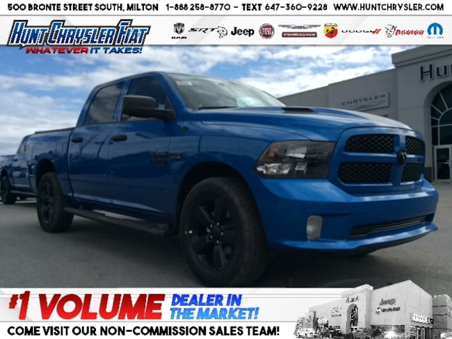 New 2019 Ram 1500 Classic HYDRO BLUE | WHEEL & SOUND | HEMI | TONNEAU & MORE Truck Crew Cab in Milton, ON