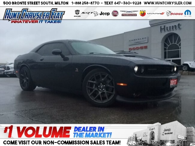 Certified 2017 Dodge Challenger R/T 329 | SCAT PACK | WINTER TIRES | 6.4L | BLACKOUT!!! Coupe in Milton, ON