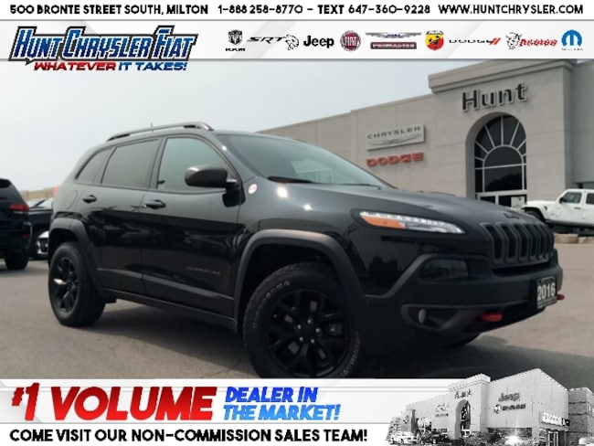 Certified 2016 Jeep Cherokee TRAILHAWK | SAFETY TEC | PANO | TOW | NAV | V6 & MORE!!! SUV in Milton, ON