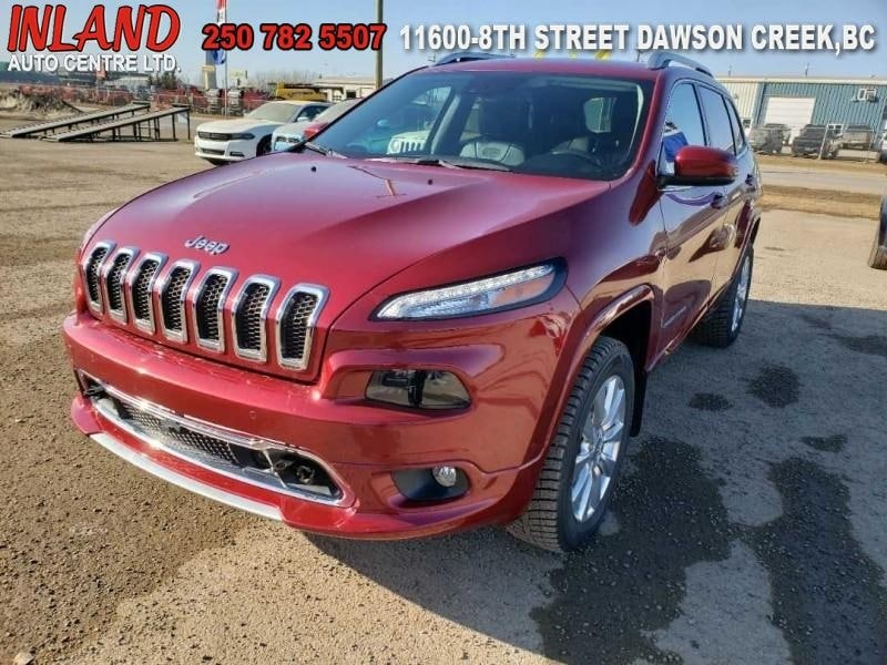2017 Jeep Cherokee Overland Nav,Bluetooth,Leather,AWD SUV