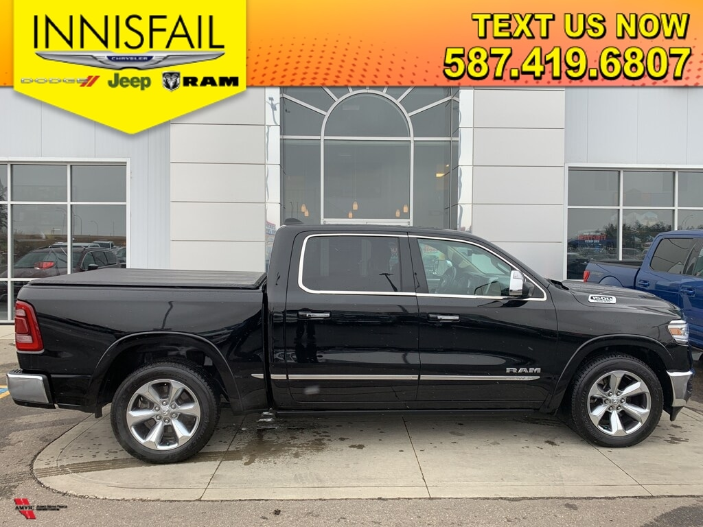 2019 Ram 1500 Limited Heated/Vent Front & Rear Seats, Premium Two Tone Leather, Navigation, 4 Corner Air Suspension, Parallel/Perpendicular Park Assist, Adaptive Cruise Control, Lane Keep Assist