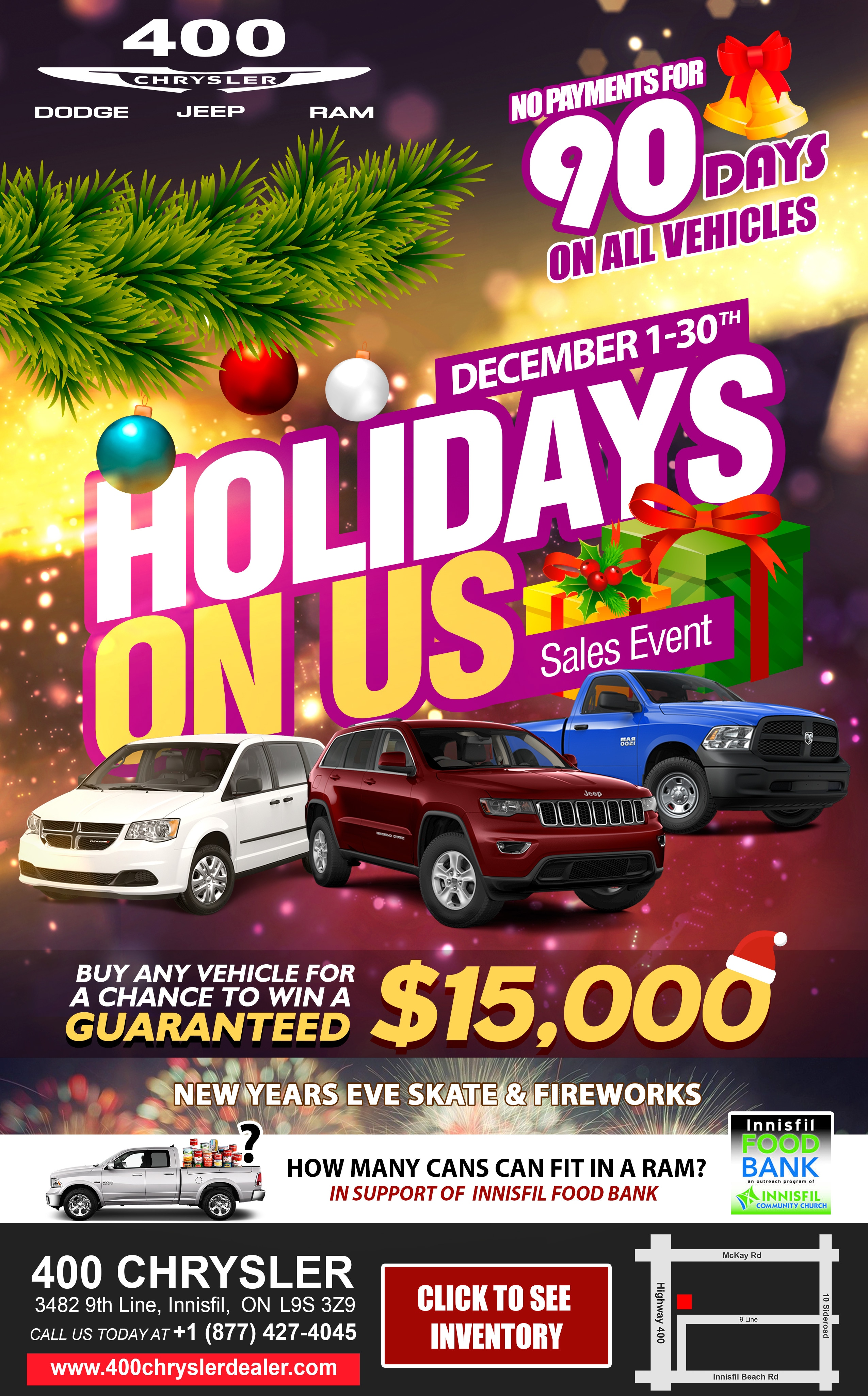 Holidays On Us Sales Event