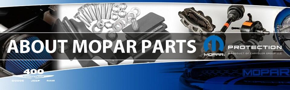 About Mopar Parts | 400 Chrysler Dodge Jeep Ram