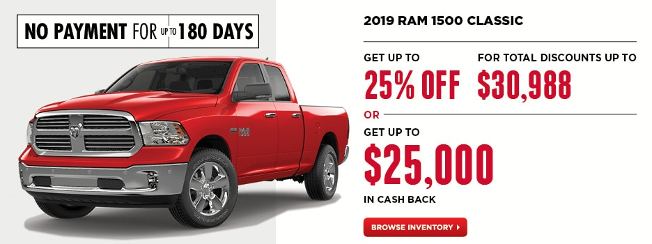 2019 RAM 1500 Classic April Offers