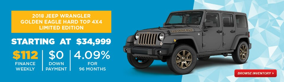 January Special 2018 Jeep Wrangler Golden Eagle