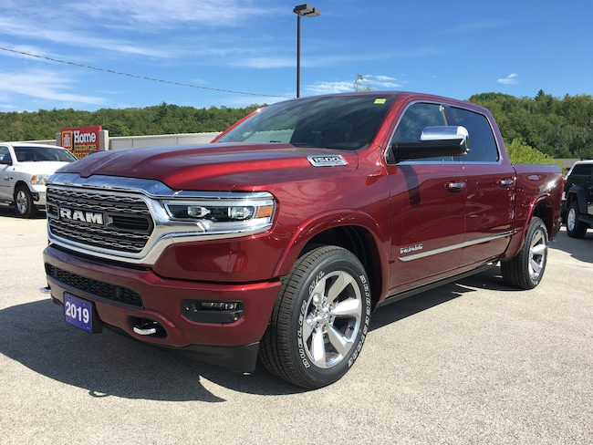 2019 Ram All-New 1500 Limited 4x4, Leather, Dual Pane Sunroof Truck Crew Cab