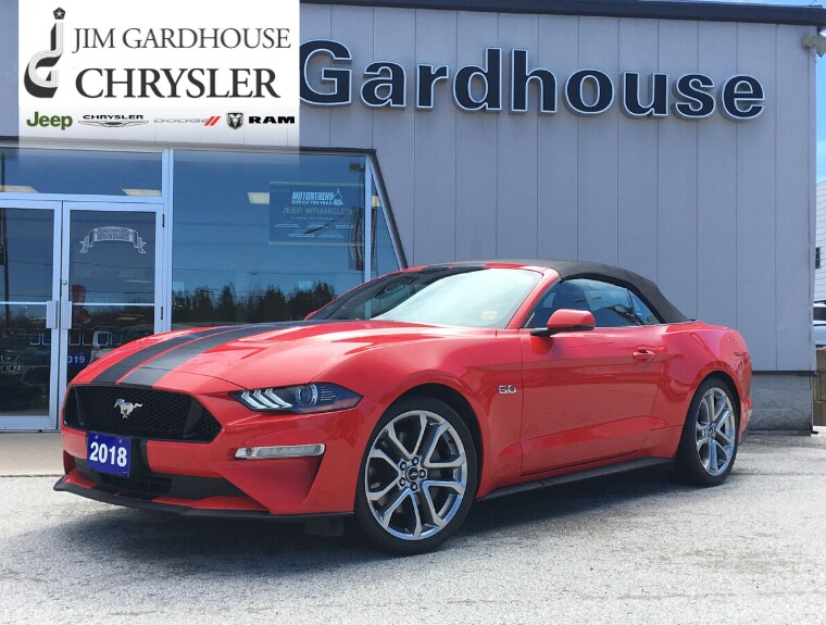 2018 Ford Mustang GT Premium 5.0 V8, Leather, Remote Start Convertible