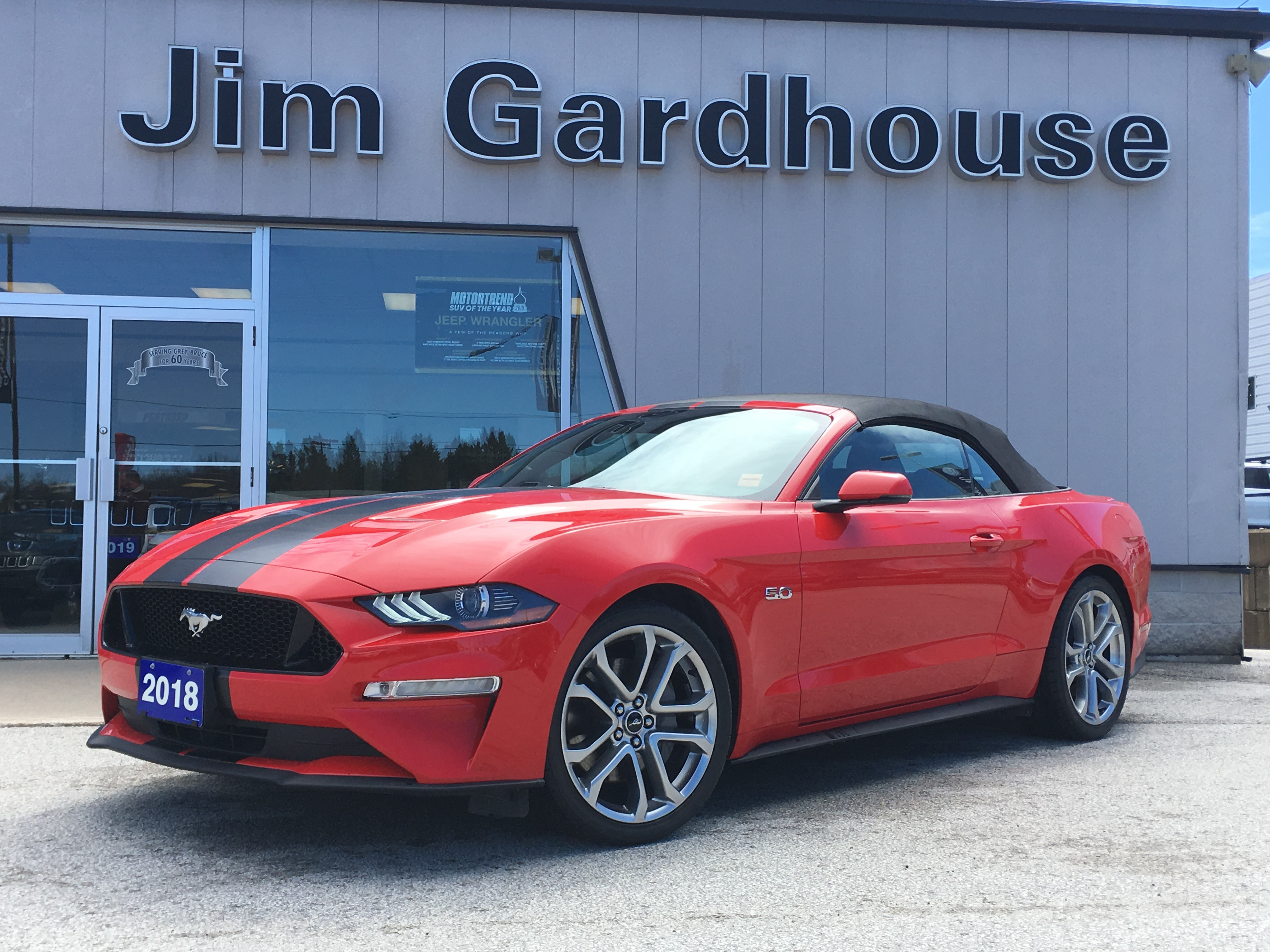 2018 Ford Mustang GT Premium 5.0 V8, Heated Seats, Remote Start Convertible