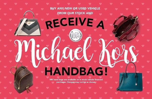 Buy any New or Used Vehicle and Receive a Michael Kors Handbag!
