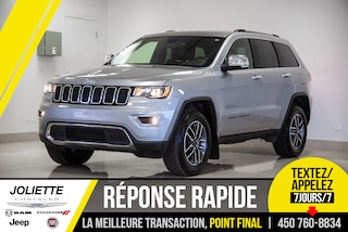 2020 Jeep Grand Cherokee LIMITED. SIEGES ET VOLANT CHAUFFANTS, VUS