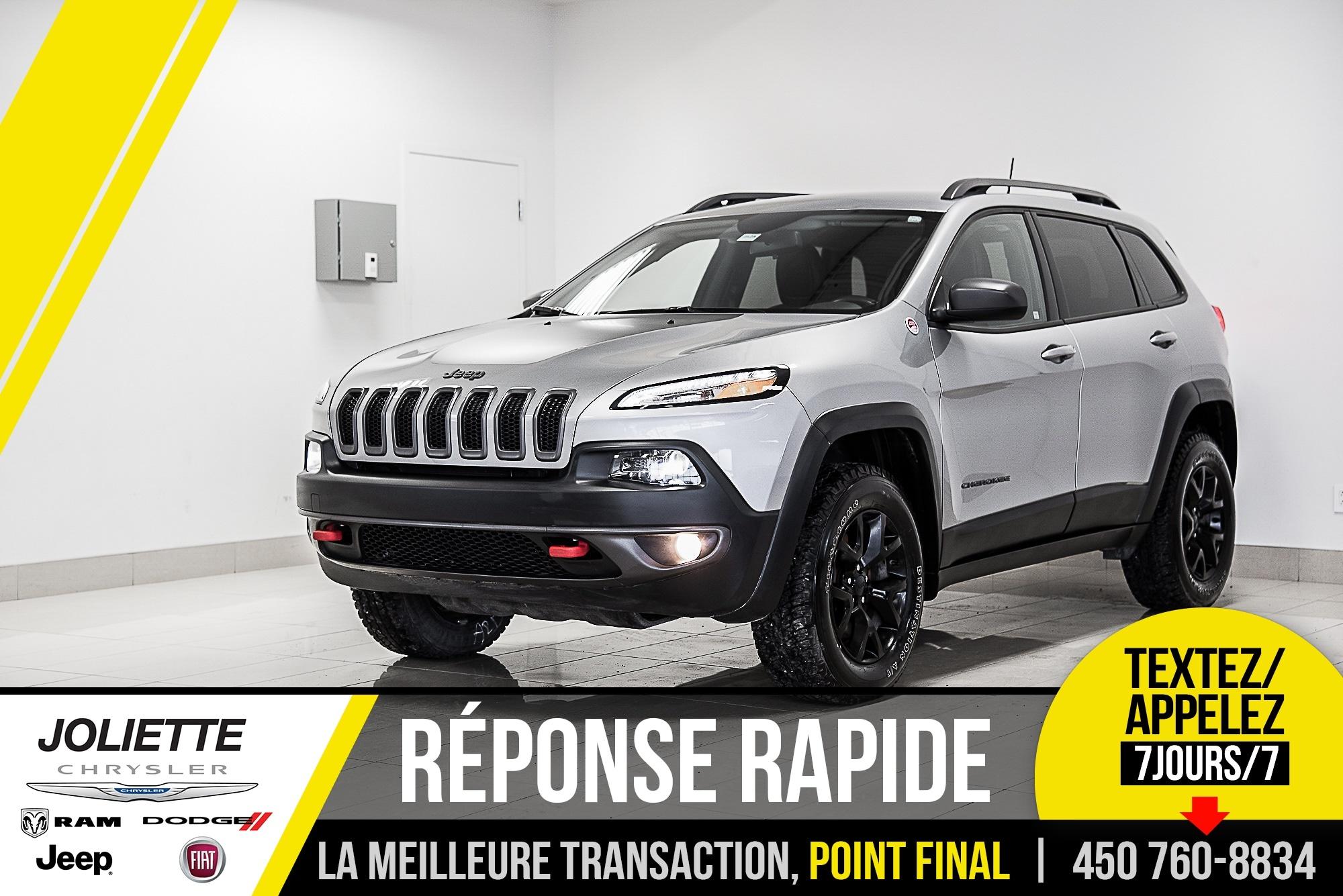 2017 Jeep Cherokee Trailhawk, AWD, DÉMARREUR À DISTANCE, ATTACHE -REM VUS