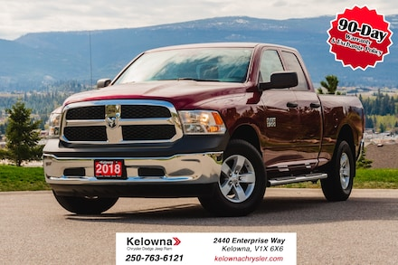 Featured Used 2018 Ram 1500 ST - 4WD - V6 - GREAT ON GAS - TRAILER PACKAGE Truck Quad Cab for sale in Kelowna, BC near Summerland