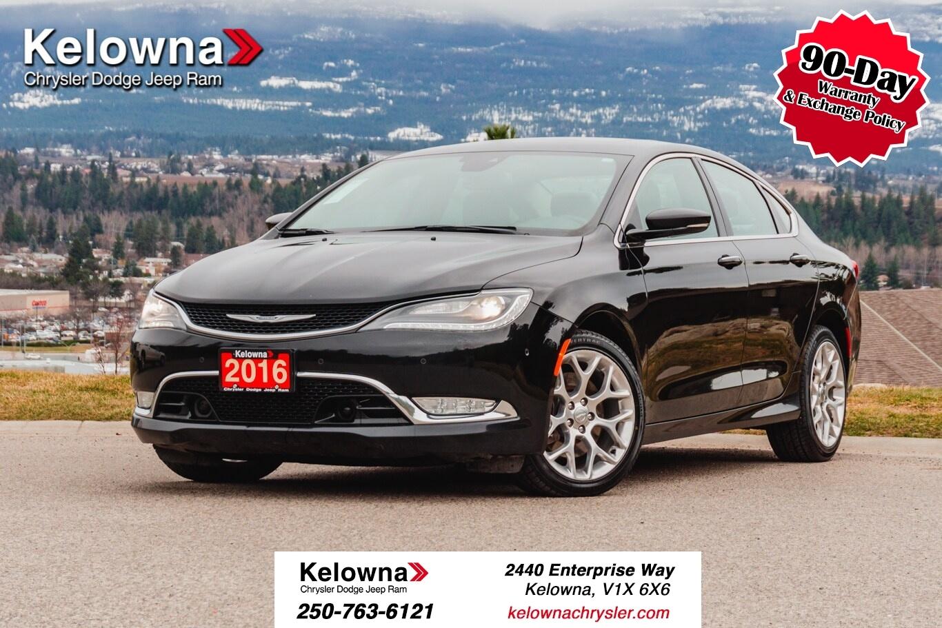 Featured Used 2016 Chrysler 200 C Sedan for sale in Kelowna, BC near Summerland