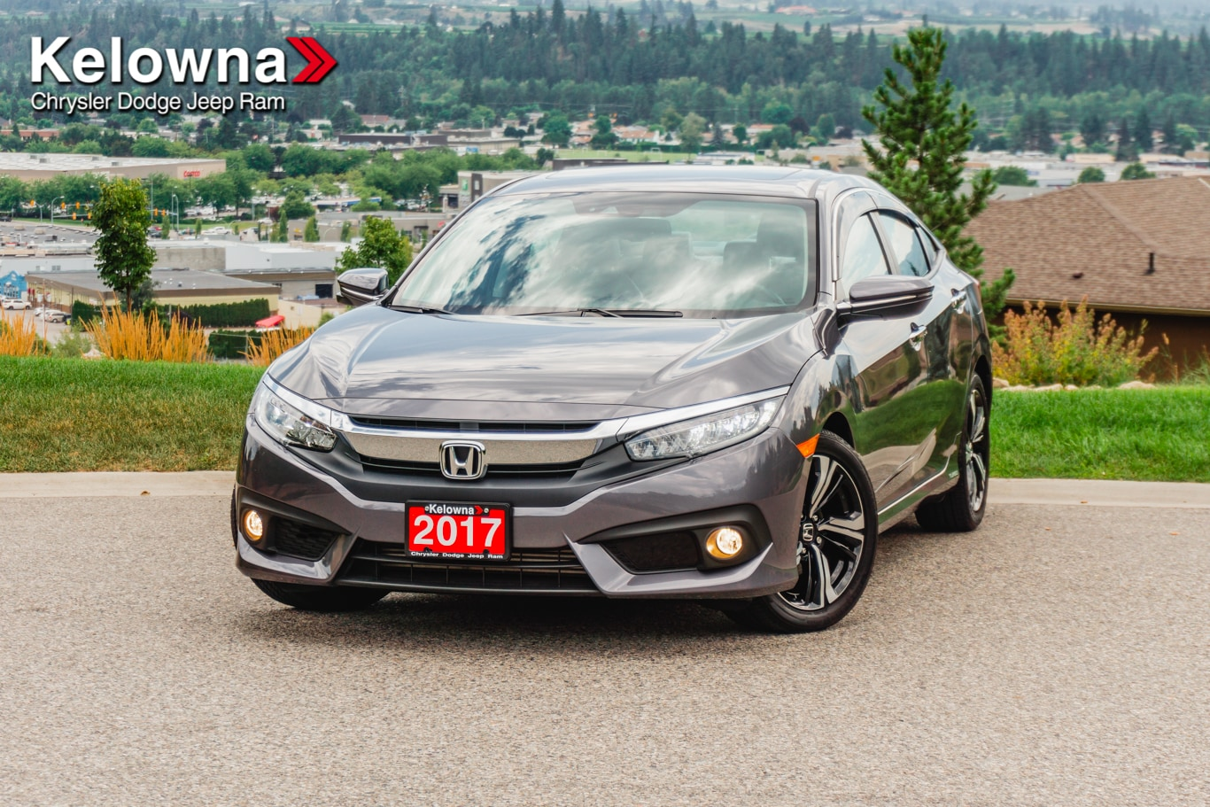 Featured Used 2017 Honda Civic Touring Sedan for sale in Kelowna, BC near Summerland