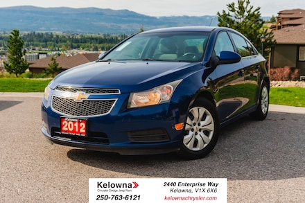 Featured Used 2012 Chevrolet Cruze LT Turbo - GREAT FUEL ECONOMY! MANUAL TRANSMISSION Sedan for sale in Kelowna, BC near Summerland