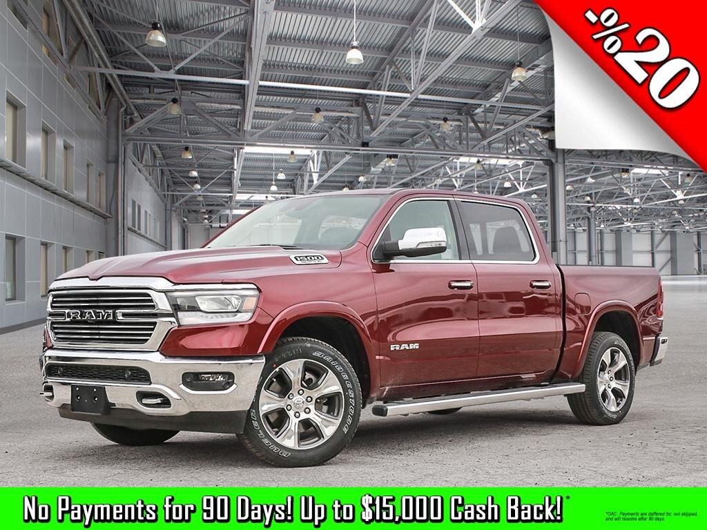 Featured New 2019 Ram All-New 1500 Laramie - Hemi V8 - Leather Seats - $437.70 B/W Truck Crew Cab for sale in Kelowna, BC near Summerland