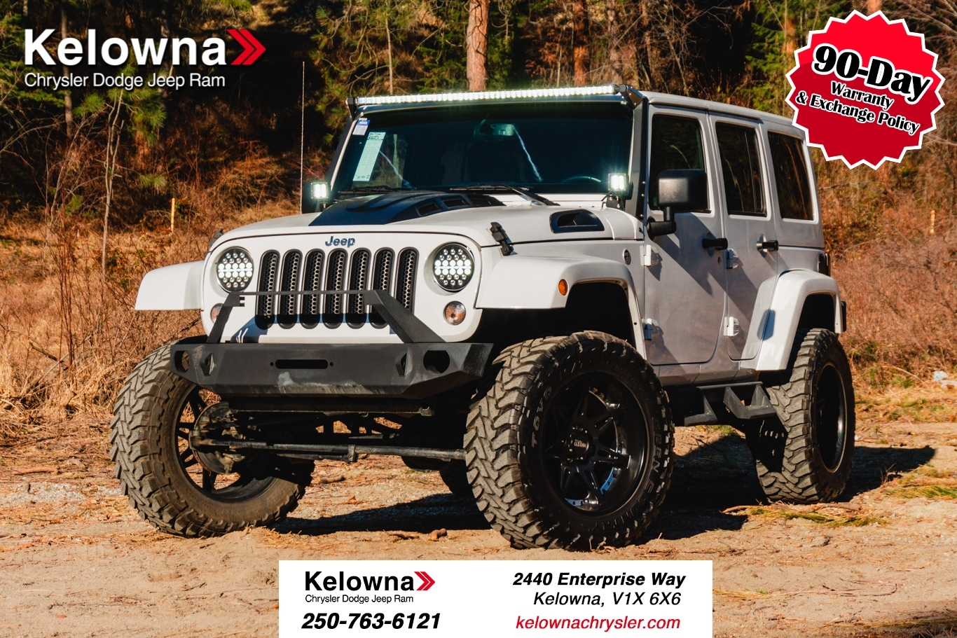Featured Used 2015 Jeep Wrangler Unlimited Sahara SUV for sale in Kelowna, BC near Summerland