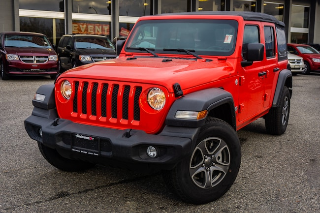 New 2018 Jeep All-New Wrangler Sport 4x4 - Heated Seats - $280.70 B/W SUV For Sale lease Kelowna, BC