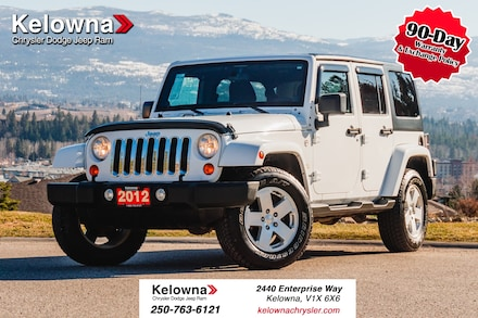 Featured Used 2012 Jeep Wrangler Unlimited Sahara, VERY LOW KM'S!! SUV for sale in Kelowna, BC near Summerland