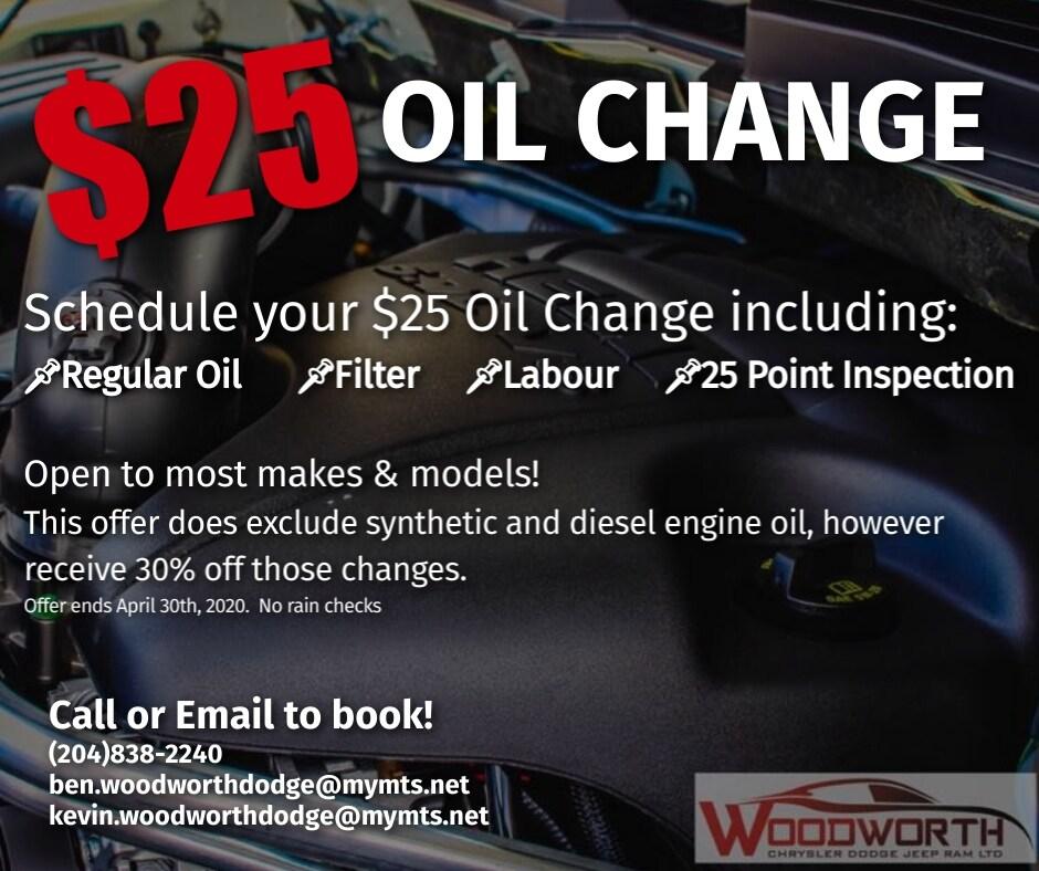 $25 Oil Change!