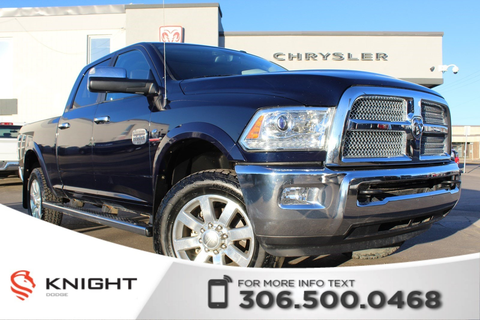 2015 Ram 3500 Longhorn | Accident Free | New Windshield | New Ti 4WD Crew Cab 149 Longhorn