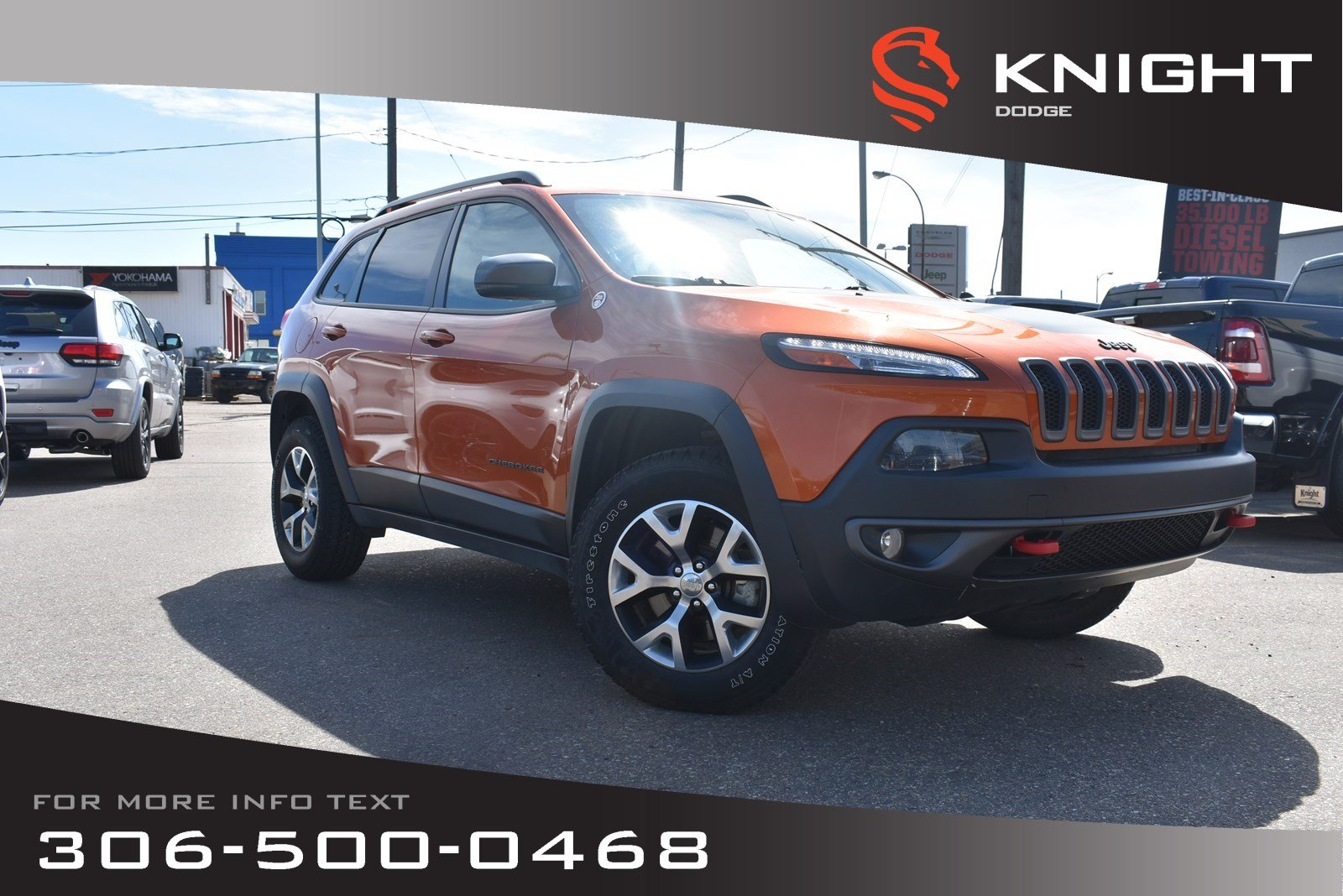 2015 Jeep Cherokee Trailhawk | Leather | Heated Seats & Steering Whee 4WD  Trailhawk