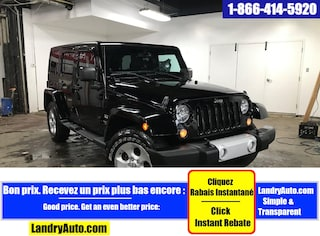 2014 Jeep Wrangler Unlimited SAHARA 4X4 2 TOIT GPS A/C MAGS VUS