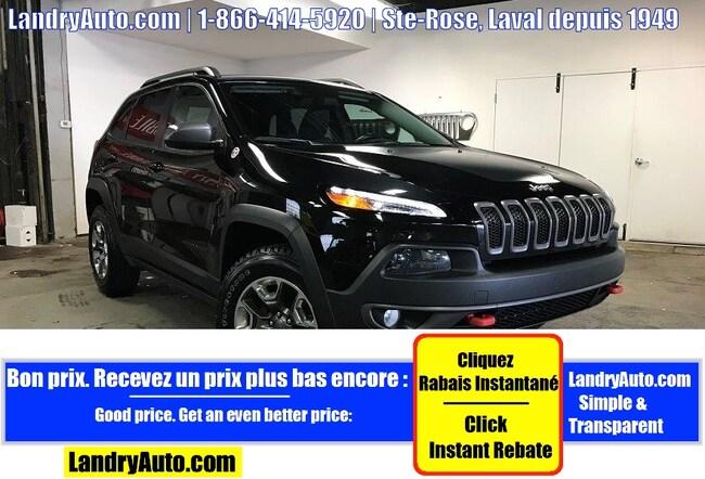 2015 Jeep Cherokee TRAILHAWK 4X4 CUIR GPS CAMERA MAGS VUS