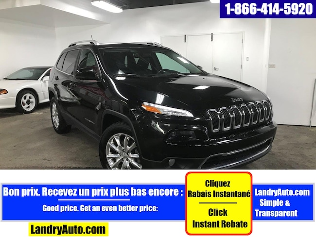 2016 Jeep Cherokee LIMITED V6 CUIR GPS SAFETYTEC  MAGS VUS