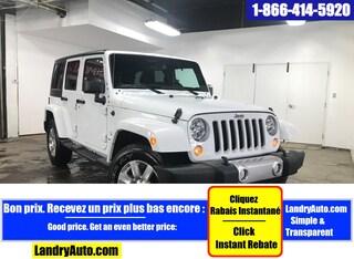 2018 Jeep Wrangler Unlimited SAHARA 4X4 2 TOITS GPS A/C MAGS  VUS