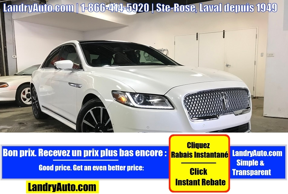 Lincoln Continental RESERVE AWD CUIR TOIT PANO GPS MAGS 2017