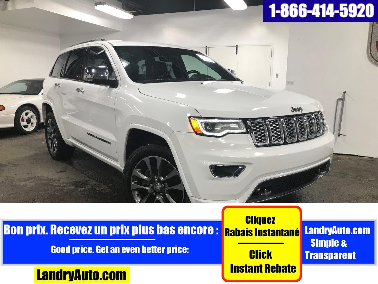 Jeep Grand Cherokee OVERLAND V8 CUIR TOIT PANO GPS BI-XÉNON 2017