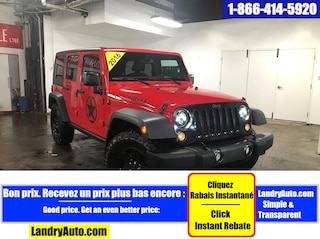 2016 Jeep Wrangler Unlimited WILLYS 2 TOIT 4X4 ALPINE MAGS  VUS