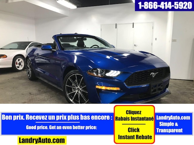 2018 Ford Mustang ECOBOOST PREMIUM CONVERTIBLE CAMERA MAGS Décapotable ou cabriolet