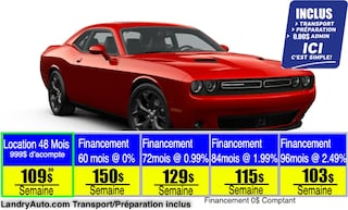 2020 Dodge Challenger SXT Plus   Prix Employés   Coupé
