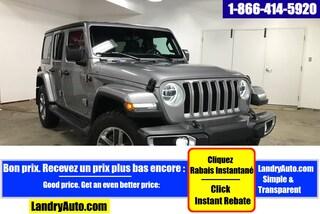 2018 Jeep Wrangler Unlimited SAHARA 4X4 2 TOITS CUIR GPS MAGS VUS