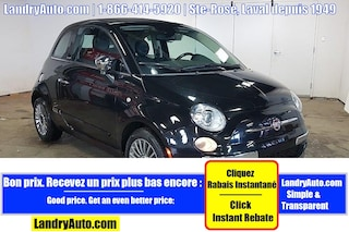 2012 FIAT 500c LOUNGE CONVERTIBLE CUIR A/C MAGS Cabriolet