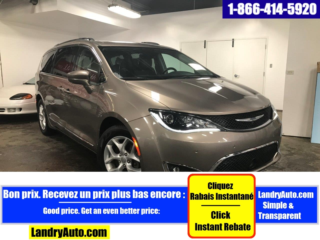 Chrysler Pacifica TOURING L-PLUS STOW 7 PASS CUIR GPS 2017
