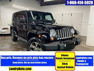 2016 Jeep Wrangler Unlimited SAHARA 4X4 2 TOITS GPS A/C MAGS VUS