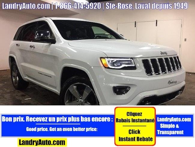 2016 Jeep Grand Cherokee OVERLAND V6 CUIR TOIT PANO GPS MAGS VUS