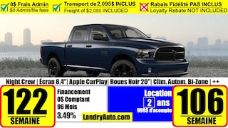 2021 Ram 1500 Classic Night Edition Camion cabine Crew