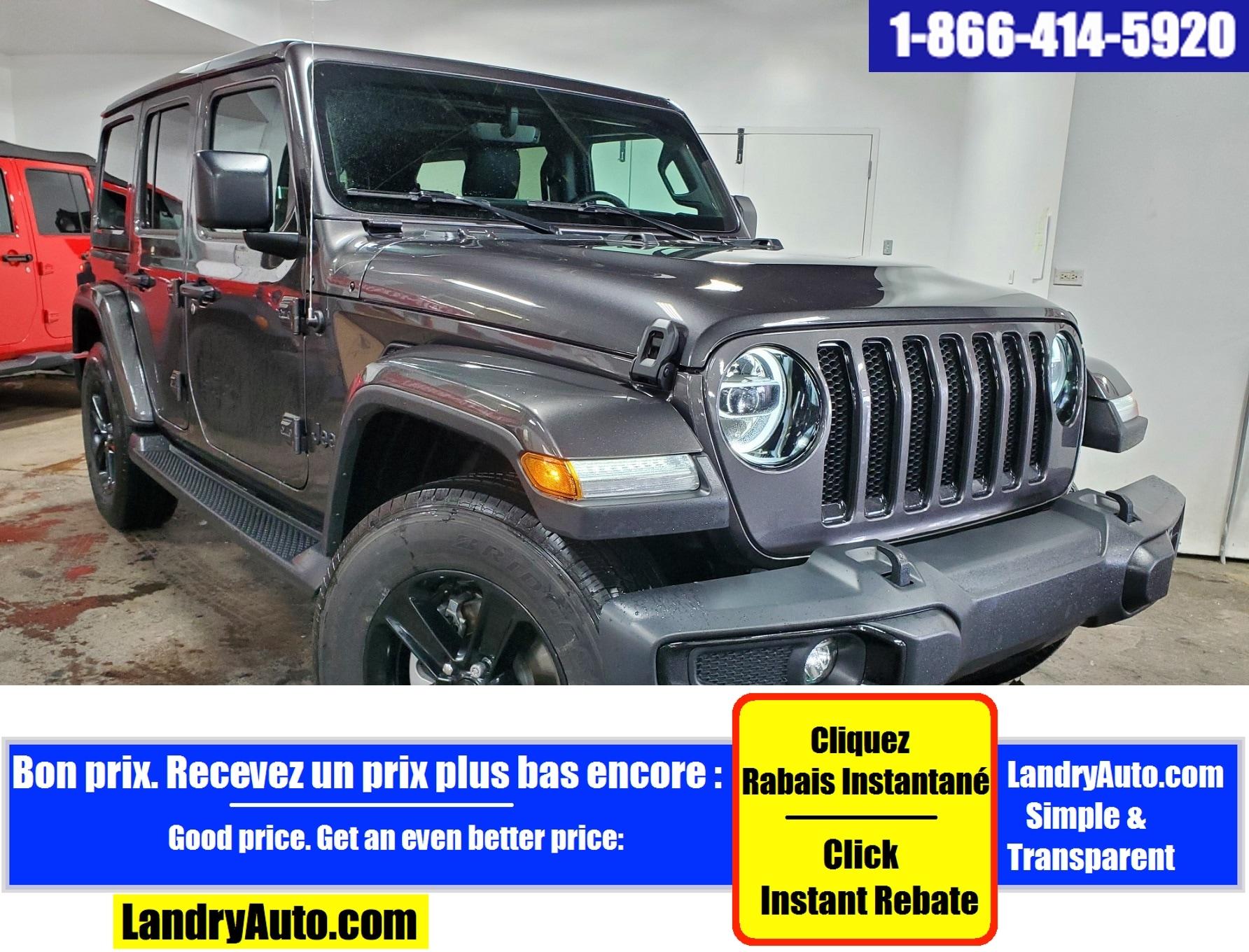 Jeep Wrangler Unlimited SAHARA CUIR 2 TOITS GPS CAMERA MAGS 2020