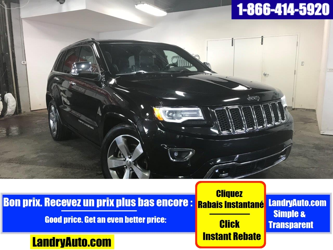 Jeep Grand Cherokee OVERLAND V8 CUIR TOIT PANO GPS MAGS 2016