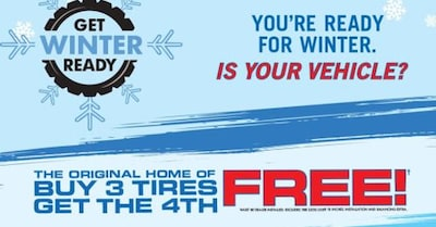 Buy 3 Tires, Get 4th FREE!