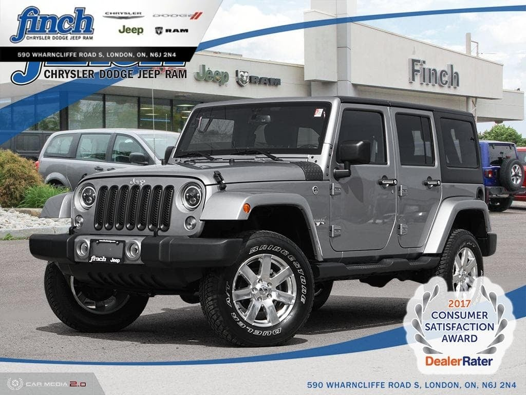 Featured Used 2017 Jeep Wrangler Unlimited Sahara - Heated Seats - $265 B/W SUV for sale near you in London, ON