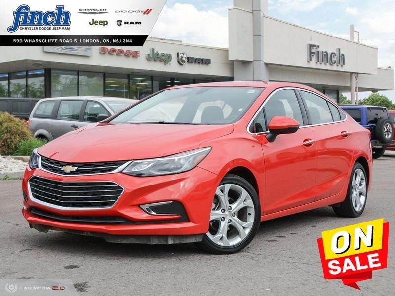 Featured Used 2018 Chevrolet Cruze Premier - Leather Seats - $112 B/W Sedan for sale near you in London, ON